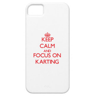 Keep calm and focus on Karting iPhone 5 Cases