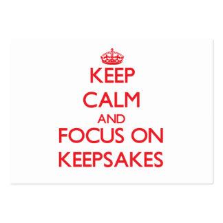 Keep Calm and focus on Keepsakes Business Card Templates