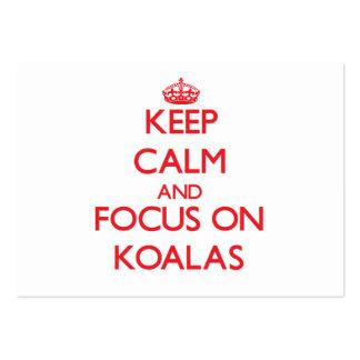 Keep Calm and focus on Koalas Business Card Templates