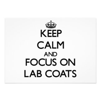 Keep Calm and focus on Lab Coats Invitations
