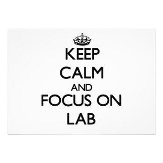 Keep Calm and focus on Lab Invitations