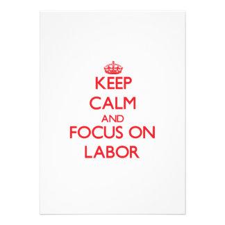 Keep Calm and focus on Labor Custom Invite