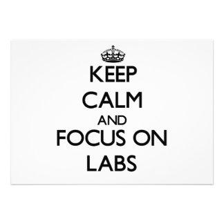 Keep Calm and focus on Labs Custom Invite