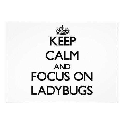 Keep Calm and focus on Ladybugs Invitation