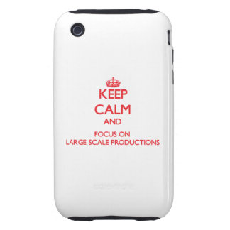 Keep Calm and focus on Large Scale Productions Tough iPhone 3 Cover