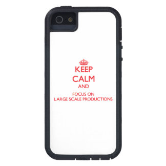 Keep Calm and focus on Large Scale Productions iPhone 5 Covers
