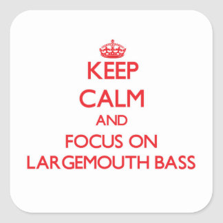 Keep Calm and focus on Largemouth Bass Stickers