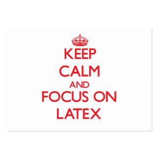 Keep Calm and focus on Latex Business Card