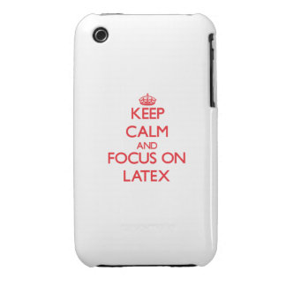 Keep Calm and focus on Latex Case-Mate iPhone 3 Case