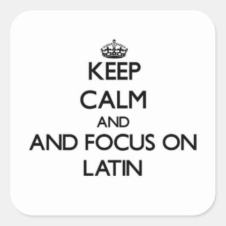 Keep calm and focus on Latin Stickers