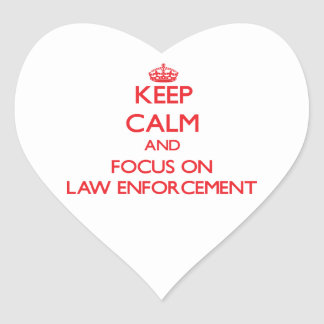 Keep Calm and focus on LAW ENFORCEMENT Sticker