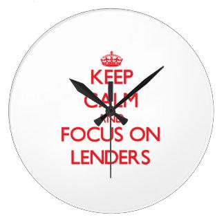 Keep Calm and focus on Lenders Wallclock