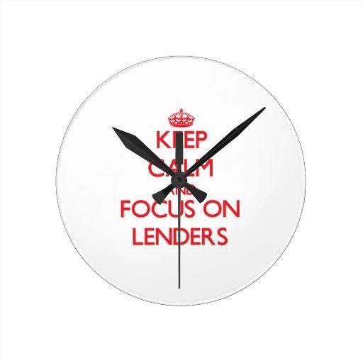 Keep Calm and focus on Lenders Round Clocks