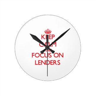 Keep Calm and focus on Lenders Clock