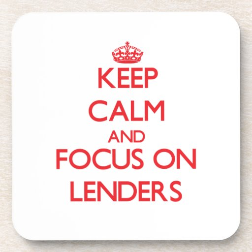 Keep Calm and focus on Lenders Beverage Coasters