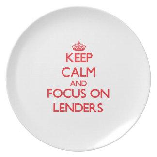 Keep Calm and focus on Lenders Plates
