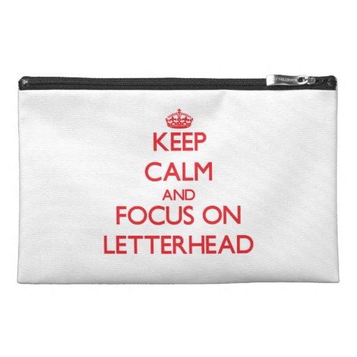Keep Calm and focus on Letterhead Travel Accessories Bag