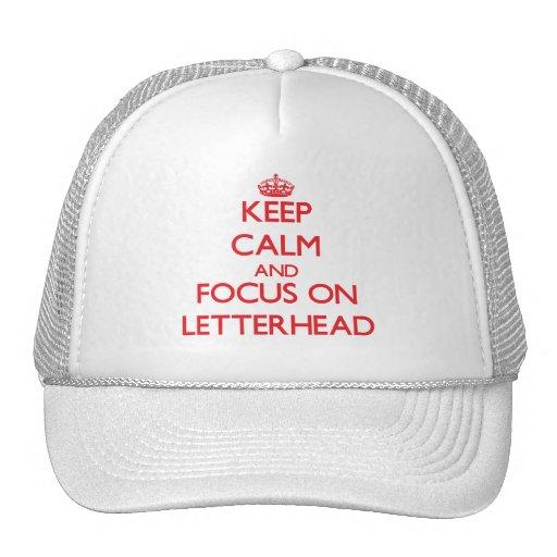 Keep Calm and focus on Letterhead Mesh Hat