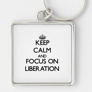 Keep Calm and focus on Liberation Key Chains