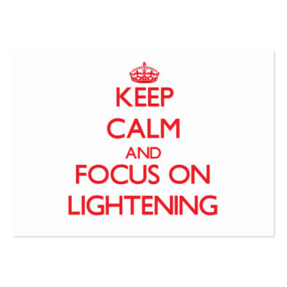 Keep Calm and focus on Lightening Business Card Templates