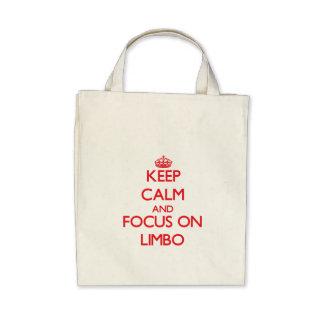 Keep Calm and focus on Limbo Canvas Bag