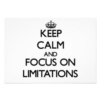 Keep Calm and focus on Limitations Custom Invitations