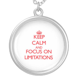 Keep Calm and focus on Limitations Jewelry