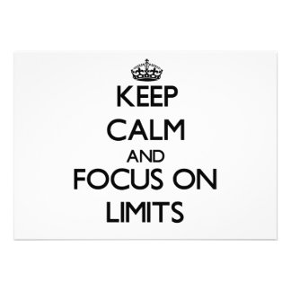 Keep Calm and focus on Limits Cards