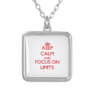 Keep Calm and focus on Limits Jewelry