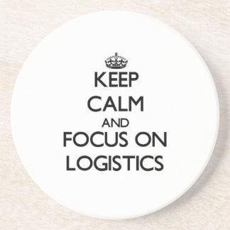 Keep Calm and focus on Logistics Coasters