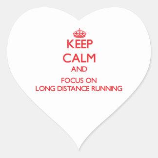Keep calm and focus on Long Distance Running Sticker