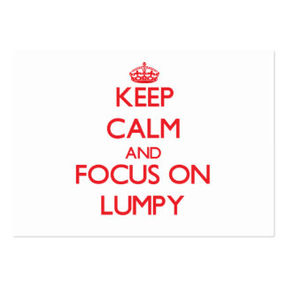 Keep Calm and focus on Lumpy Business Card Template