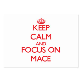 Keep Calm and focus on Mace Business Card Template