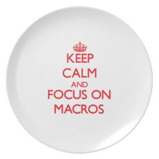 Keep Calm and focus on Macros Dinner Plates