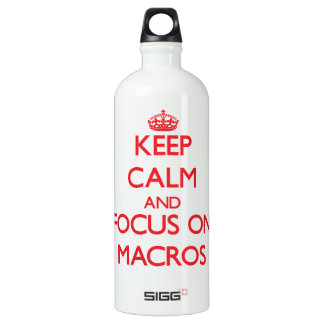 Keep Calm and focus on Macros SIGG Traveller 1.0L Water Bottle