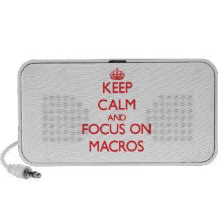Keep Calm and focus on Macros Mp3 Speaker