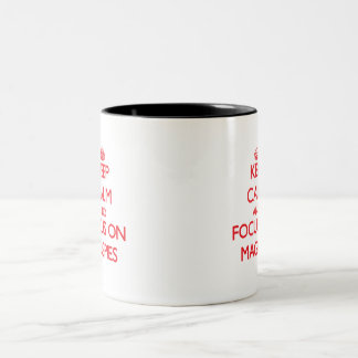 Keep Calm and focus on Magpies Two-Tone Coffee Mug