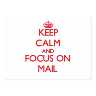 Keep Calm and focus on Mail Business Cards
