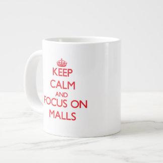 Keep Calm and focus on Malls Jumbo Mug