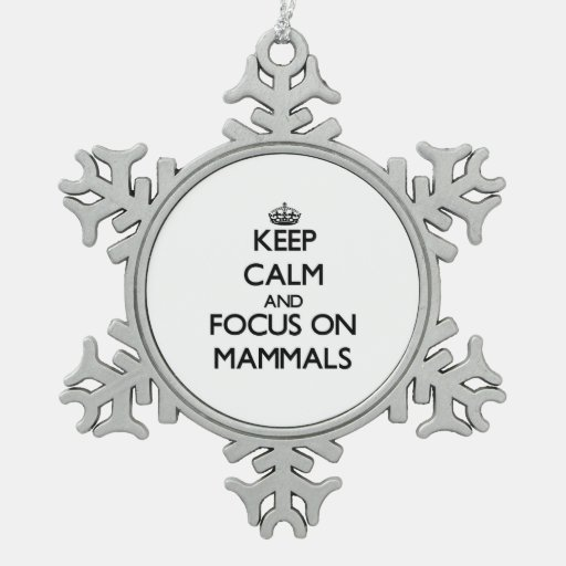 Keep Calm and focus on Mammals Ornament