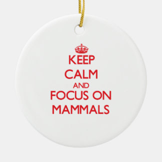 Keep Calm and focus on Mammals Ornaments