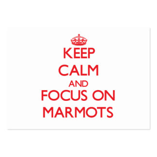 Keep calm and focus on Marmots Pack Of Chubby Business Cards