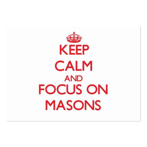 Keep Calm and focus on Masons Business Card Templates