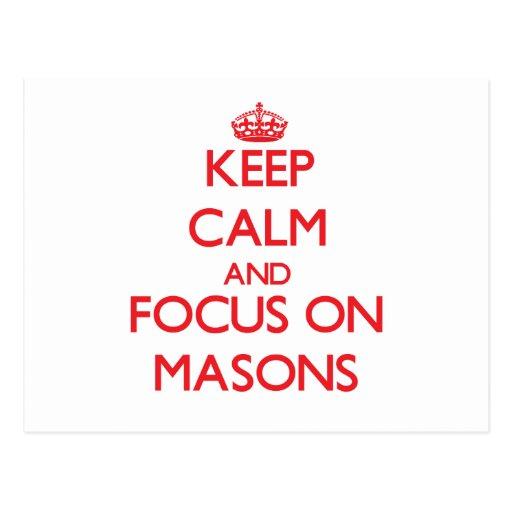 Keep Calm and focus on Masons Postcards