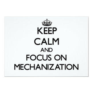 Keep Calm and focus on Mechanization Announcements