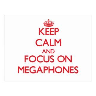 Keep Calm and focus on Megaphones Postcards