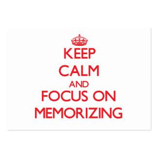 Keep Calm and focus on Memorizing Business Card Templates