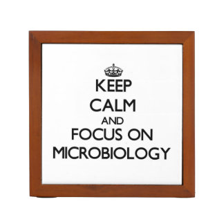 Keep Calm and focus on Microbiology Pencil/Pen Holder