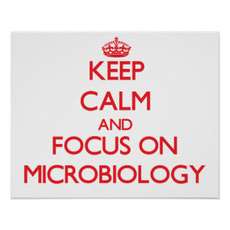 Keep Calm and focus on Microbiology Poster