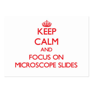 Keep Calm and focus on Microscope Slides Business Cards